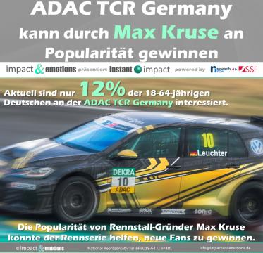 Kann die Rennserie ADAC TCR Germany die Bekanntheit des Fußball-Nationalspielers Max Kruse nutzen?